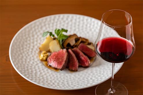 ワインとお肉