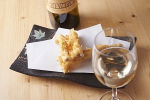 天ぷらとワイン